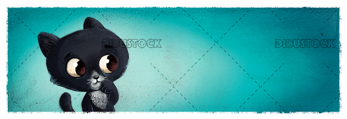 Black cat face with background