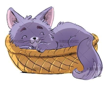 Cat in a basket 1