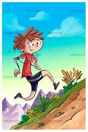 Child running doing exercise