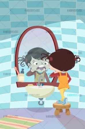 Cleaning teeth
