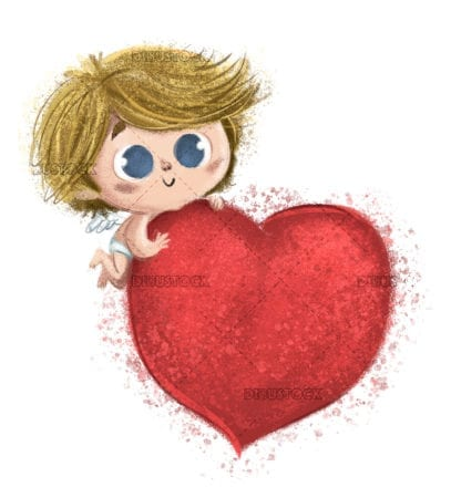 Cupid in valentines