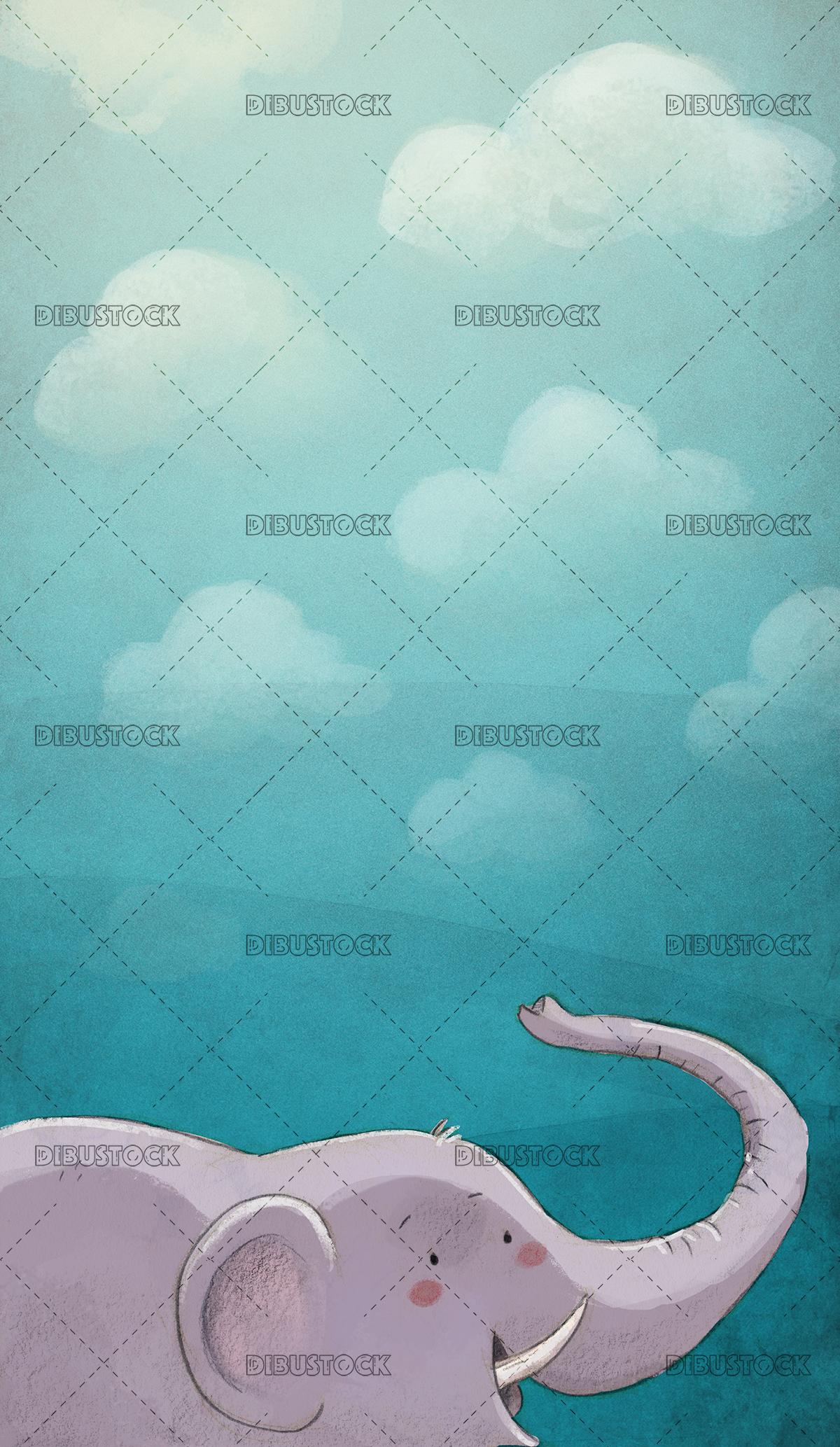 Elephant with texture