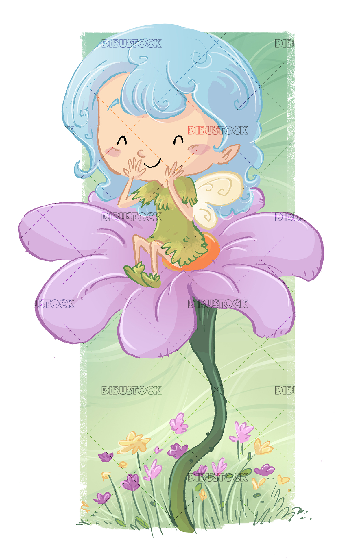 Fairy and flower