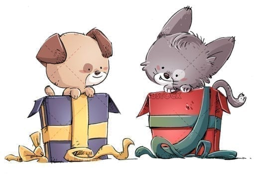 Gift of cat and dog