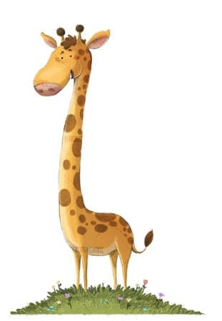 Giraffe illustration white background