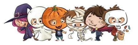 Halloween monsters children