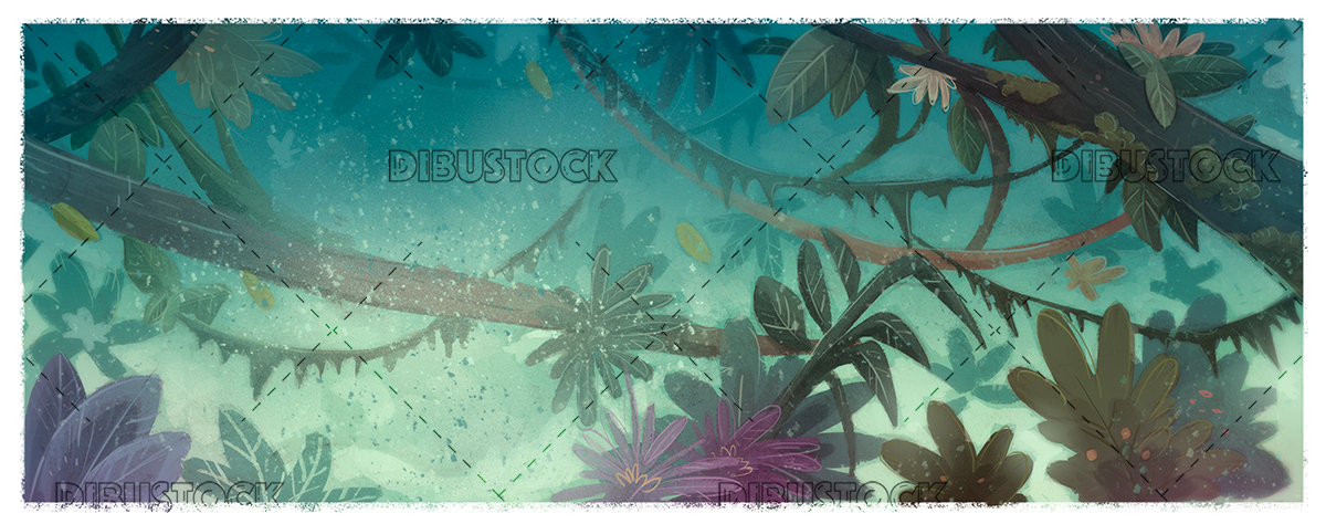 Jungle plants illustration