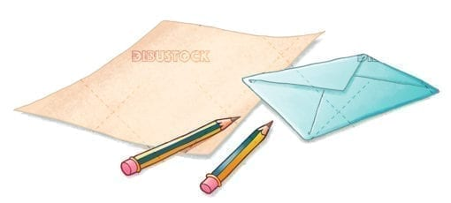 Letter with envelope