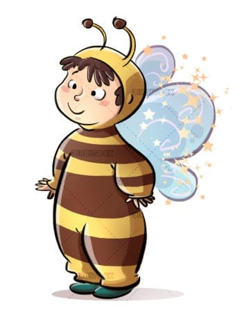 Little girl with bee costume
