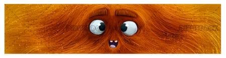 Orange monster face