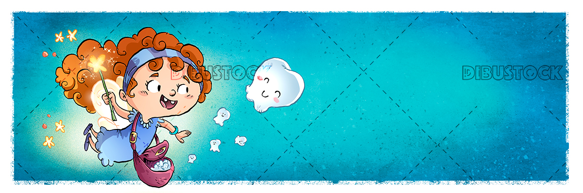 Tooth Fairy blue background