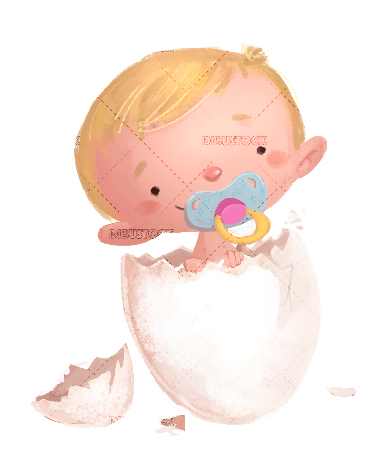 baby coming out of an egg