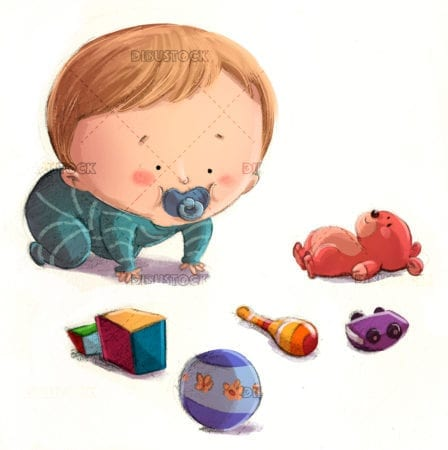 baby playing with toys 1