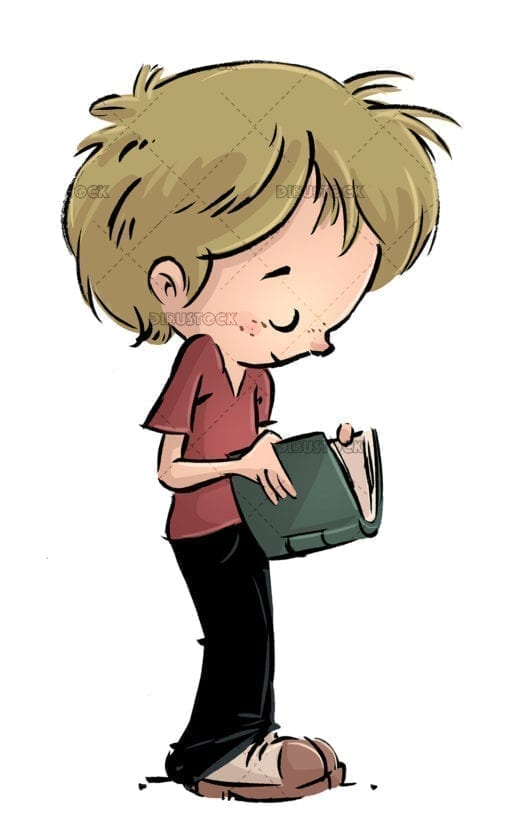 boy with book in hands
