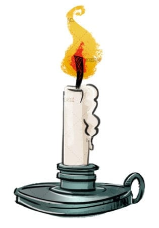 drawing candle with candlestick