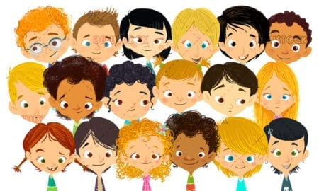 face of happy children