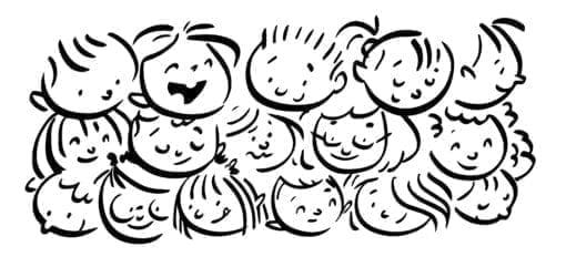 faces of happy children