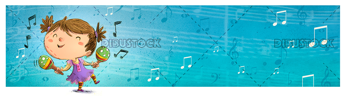 girl dancing blue background