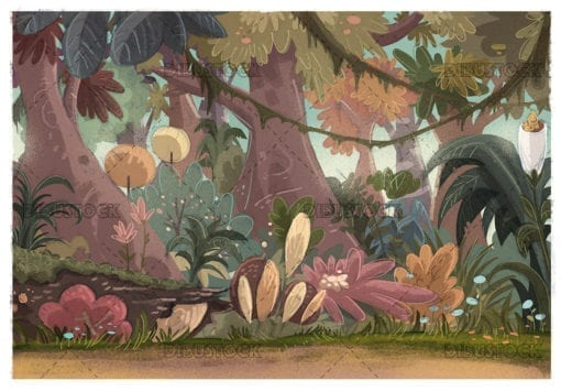 jungle background with plants