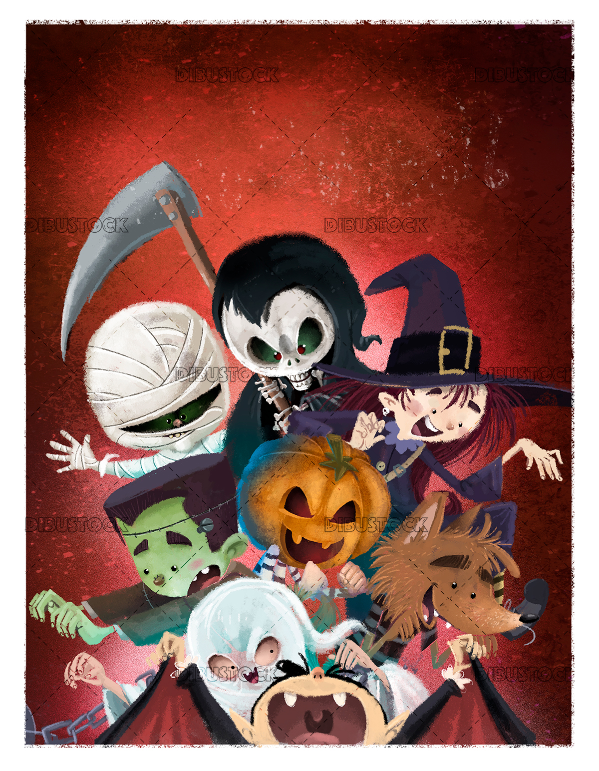 kids halloween monsters