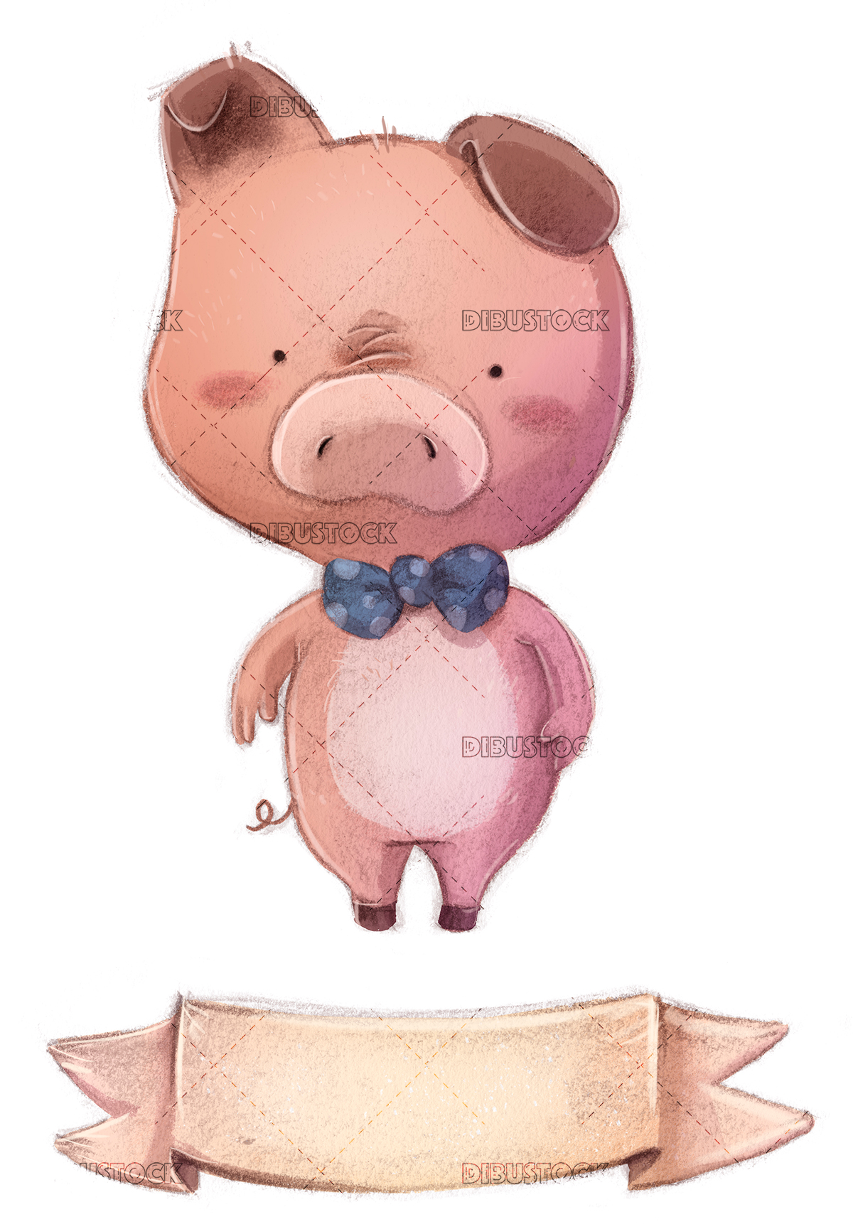 pig with poster