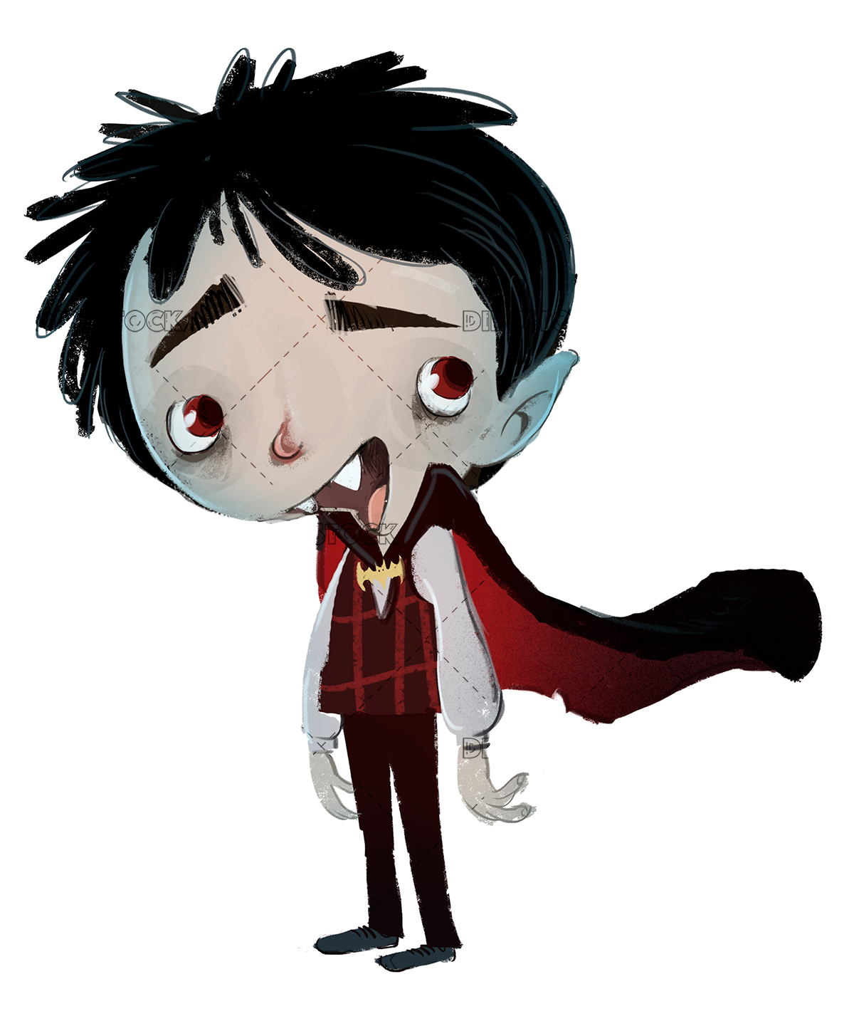 vampire boy with disguise