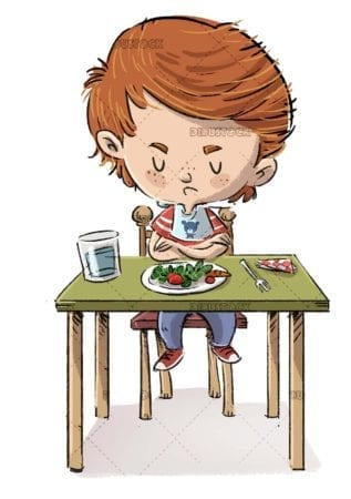 Child who does not want to eat