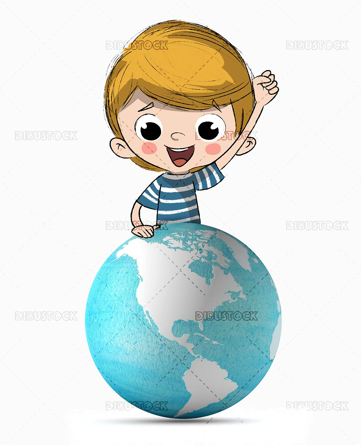 Child with planet Earth. Sustainability ecology