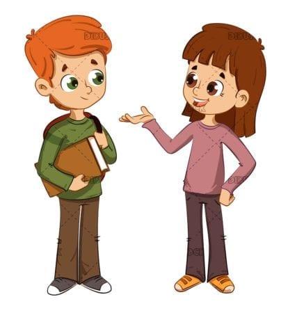 Children talking to each other
