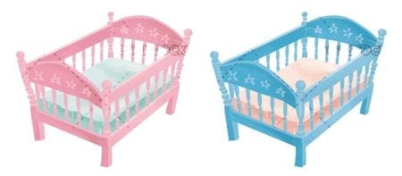 Childs cradle and girls cradle