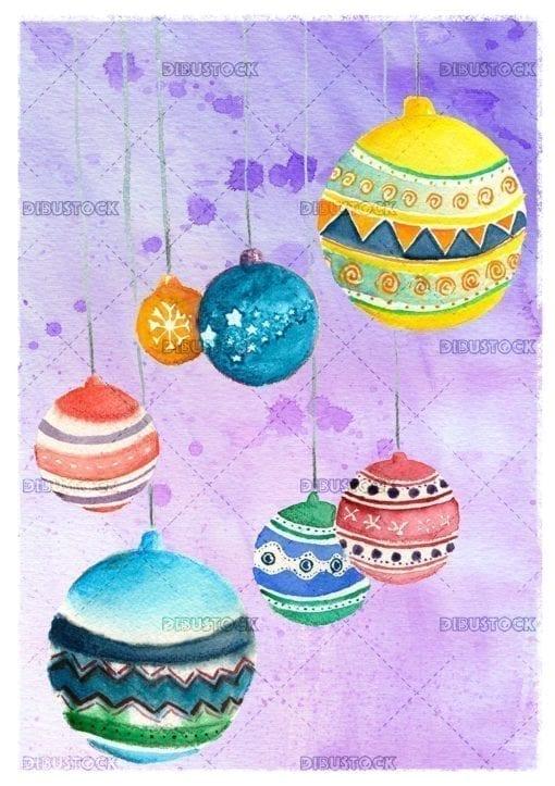 Christmas echo Christmas tree balls