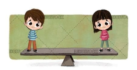 Equality between children and genders. Balance