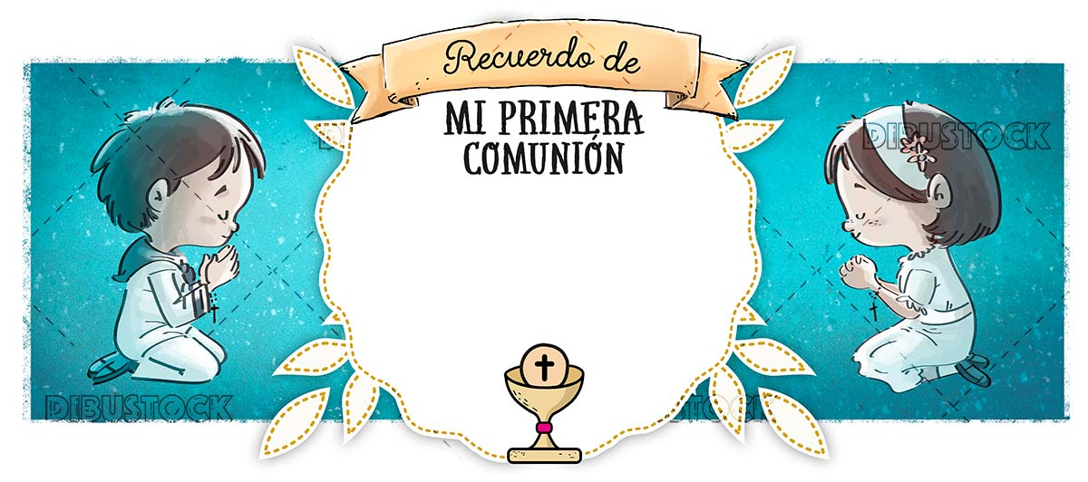 First communion congratulation. Memory
