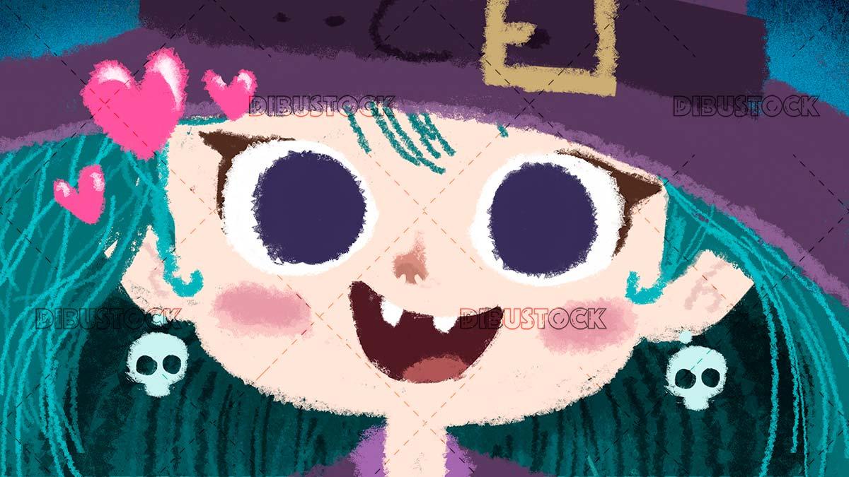 Halloween witch child