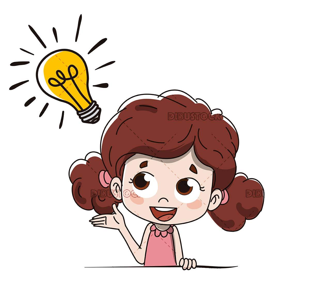 Little girl with an idea