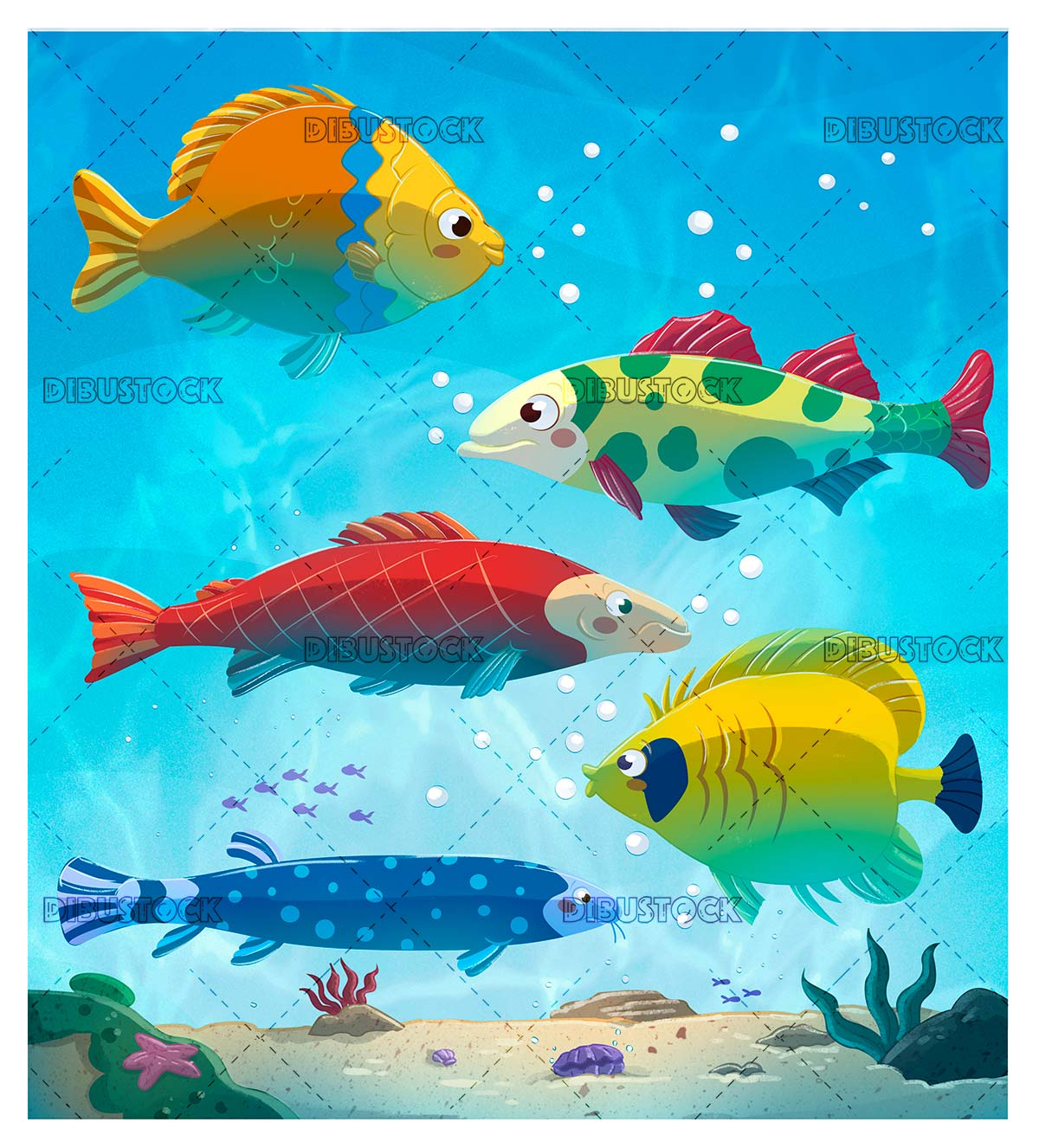 Marine fish in the sea