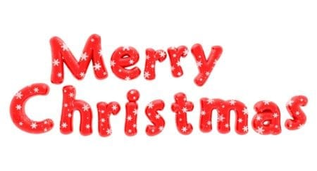 Merry Christmas Christmas text with snow