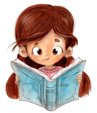 Reading a book drawing