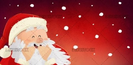 Santa Claus at Christmas laughing