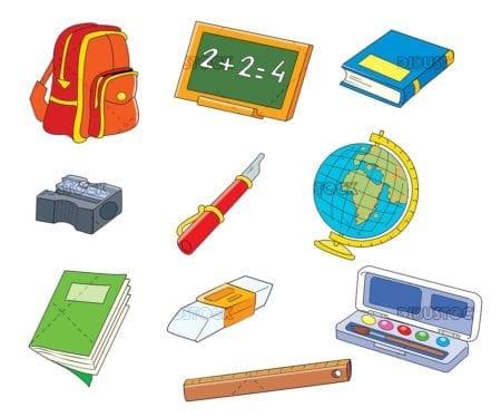 School objects school supplies