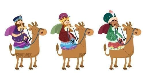 Three wise men on camel