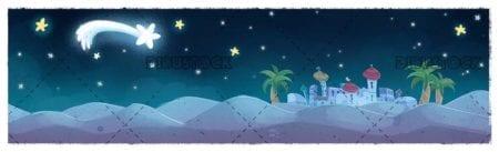 east star landscape at christmas