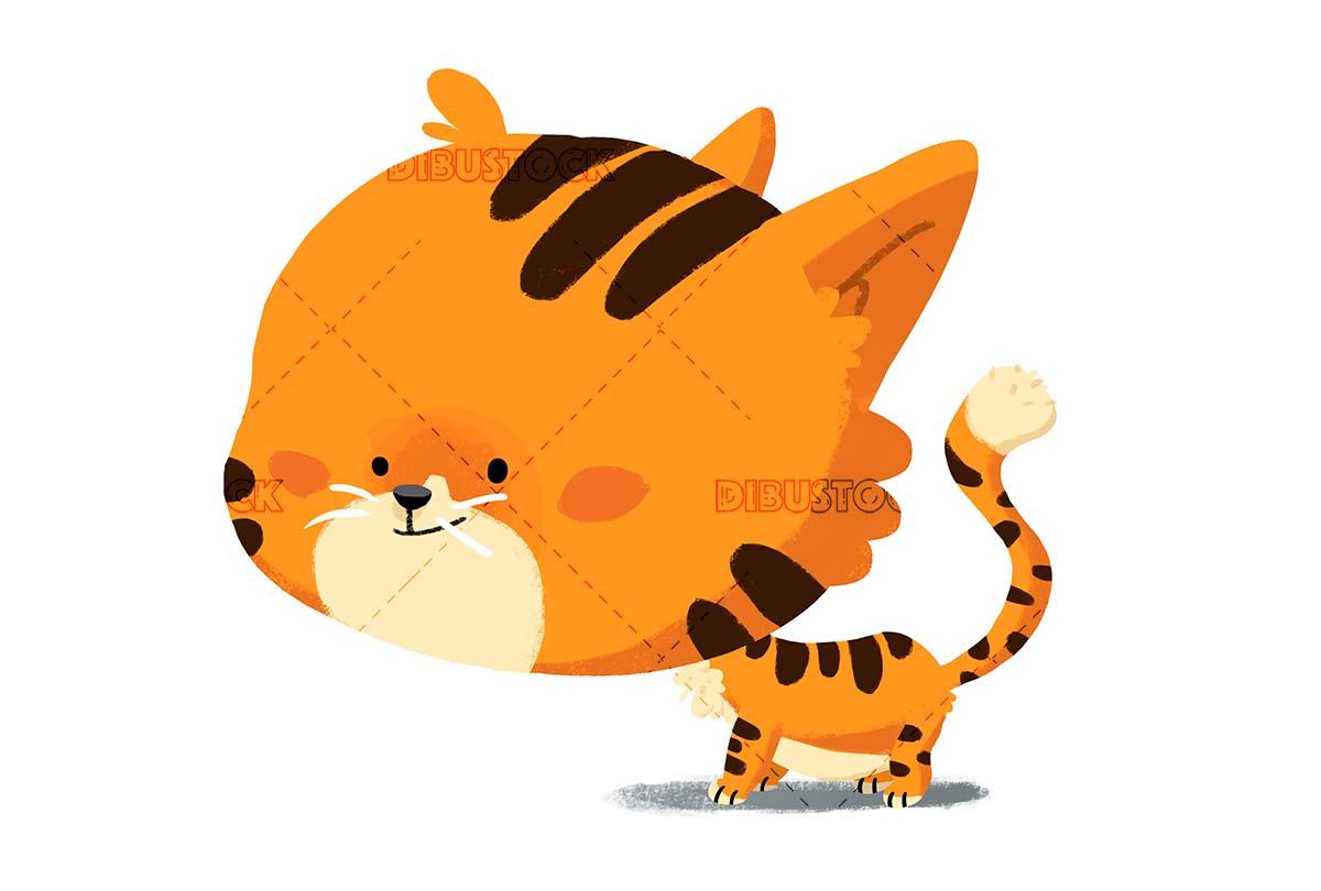 tigre animado