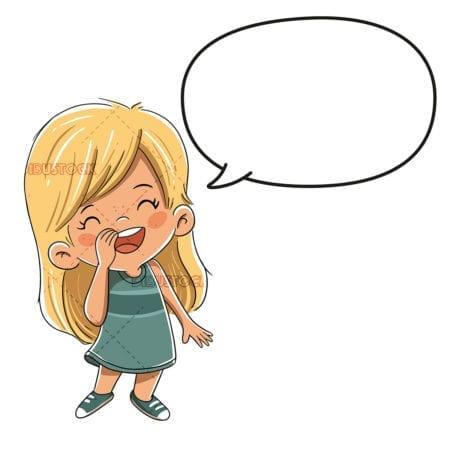Child talking or saying something