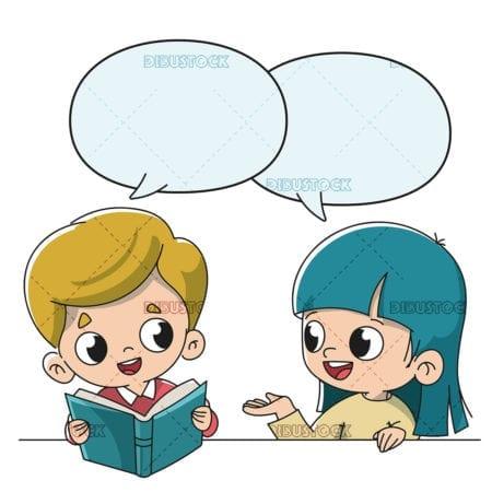 Children talking at school