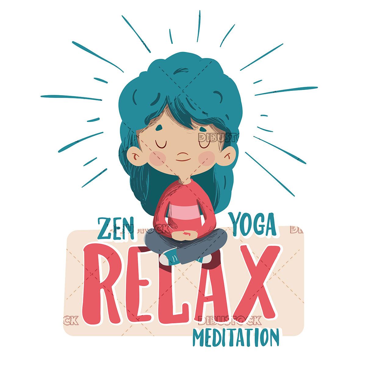 Girl meditating doing yoga