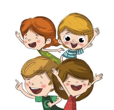 Group of happy children 1