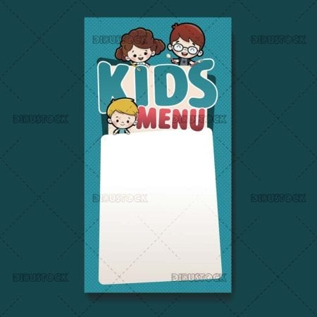 Kids menu template kids menu template
