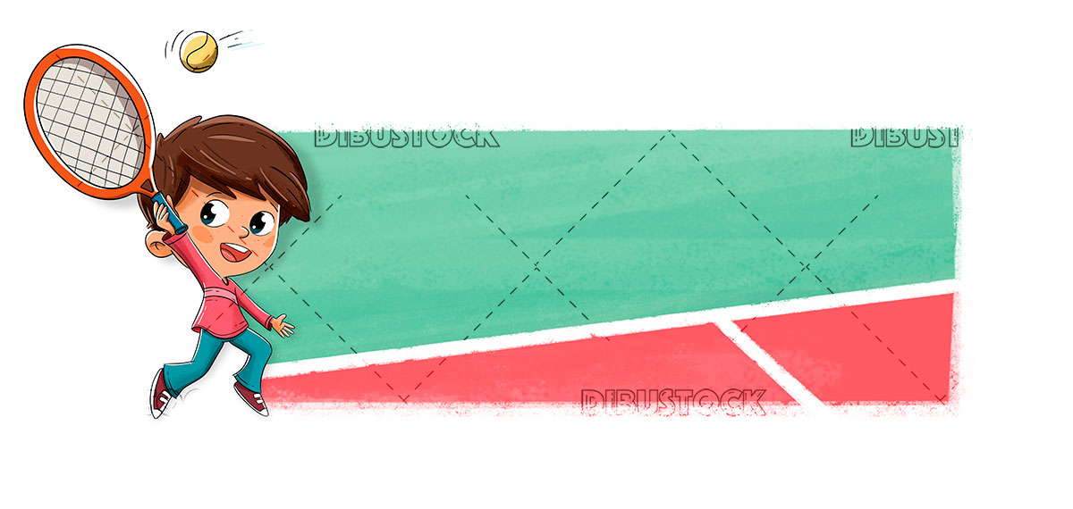 Nuño playing a game of tennis