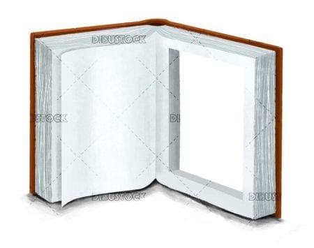 Open book. Window to the imagination